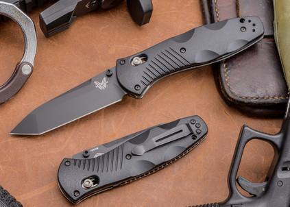 Benchmade Knives: 583BK Barrage - Tanto - Black Blade