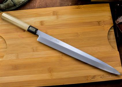 Tsugyoku: 330mm Yanagi-Ba with Saya - White #1 Steel