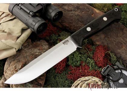 Bark River Knives: Bravo 1.5 - Field Version - Black Canvas Micarta
