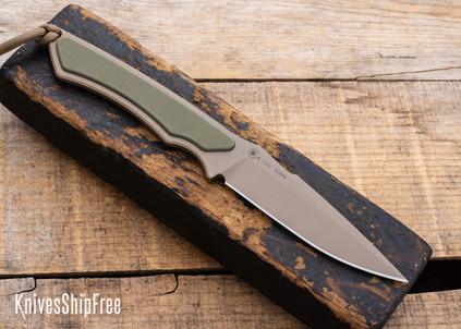 Spartan Blades: Phrike - Flat Earth Blade - OD Green G-10