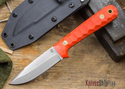 L.T. Wright Knives: ProTac - Orange Mountain Micarta - Saber Ground - D-2 Tool Steel - Kydex Sheath - LT28EA07