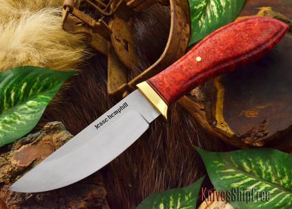 Jesse Hemphill Knives: DeKalb Series - Point Rock - Red Elder Burl - #5