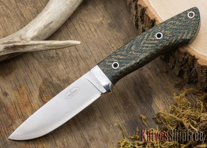 Fallkniven: Custom F1 - Green Herringbone Micarta - Hollow Pins