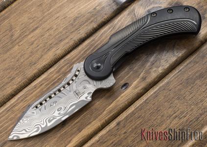 Todd Begg Knives: Steelcraft Series - Field Marshall - Black & Silver Titanium - Grosserosen Damasteel - FF