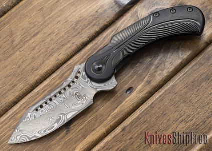 Todd Begg Knives: Steelcraft Series - Field Marshall - Black & Silver Titanium - Grosserosen Damasteel - GG
