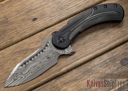 Todd Begg Knives: Steelcraft Series - Field Marshall - Black Titanium - Draupner Damasteel - BB