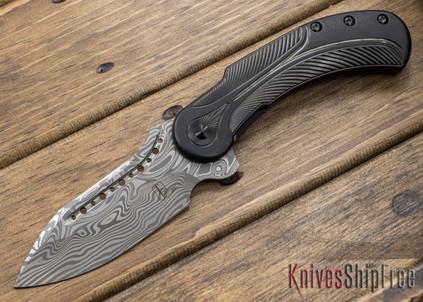 Todd Begg Knives: Steelcraft Series - Field Marshall - Black Titanium - Draupner Damasteel - EE