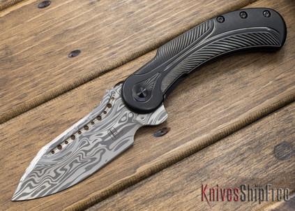 Todd Begg Knives: Steelcraft Series - Field Marshall - Black Titanium - Draupner Damasteel - FF