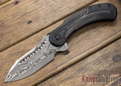 Todd Begg Knives: Steelcraft Series - Field Marshall - Black Titanium - Draupner Damasteel - GG