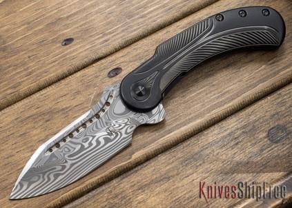 Todd Begg Knives: Steelcraft Series - Field Marshall - Black Titanium - Draupner Damasteel - HH