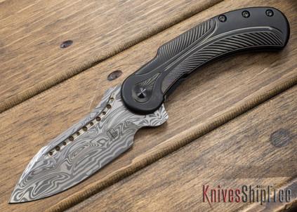 Todd Begg Knives: Steelcraft Series - Field Marshall - Black Titanium - Draupner Damasteel - KK