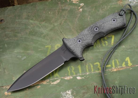 """Chris Reeve Knives: Green Beret - 5.5"""" - Black KG Gun-Kote - Plain Edge"""