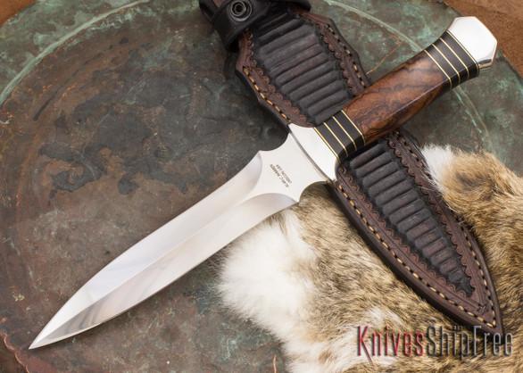 Alan Warren Knives: Custom Dagger #2143 - Ironwood - Blackwood Spacers