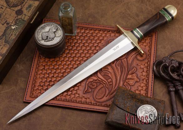 Alan Warren Knives: Toothpick - Ironwood - Burl Spacers
