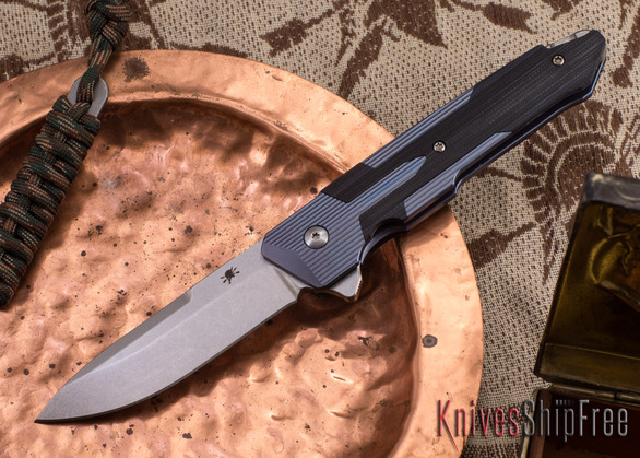 Spartan Blades: Kranos - Blue Anodized Titanium - Black G-10