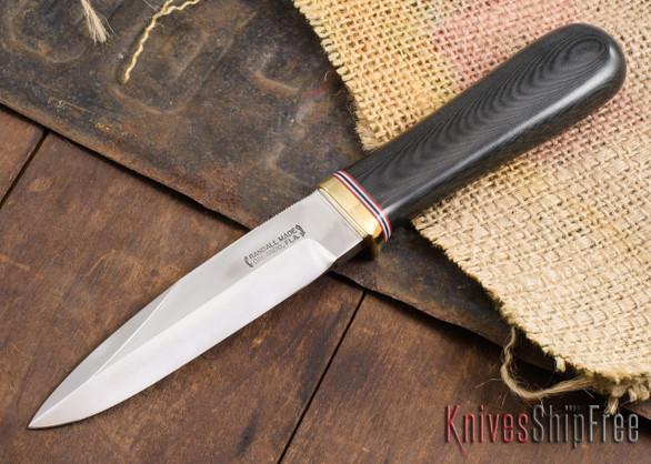 """Randall Made Knives: Gambler 5"""" - Black Micarta - 120909"""
