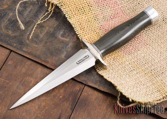 Randall Made Knives: Model 13-6 Small Arkansas Toothpick - Black Micarta - 120915