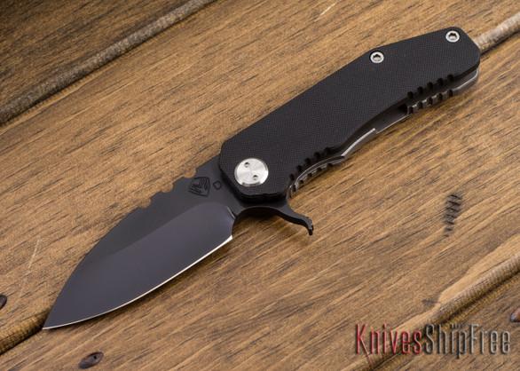 "Medford Knife & Tool: 187 ""F"" Flipper - Black G-10 / Ti -  Gray PVD"