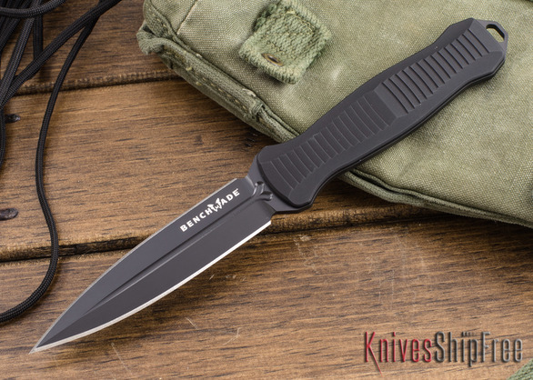 Benchmade Knives: 133BK Fixed Infidel - D2 - Black Blade
