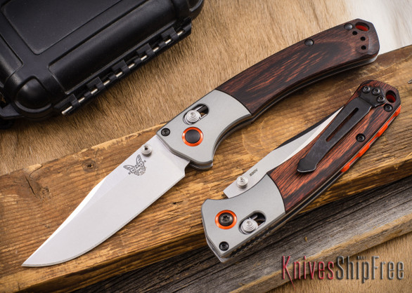 Benchmade Knives: 15085-2 Mini Crooked River - Clip-point - CPM-S30V - AXIS Lock