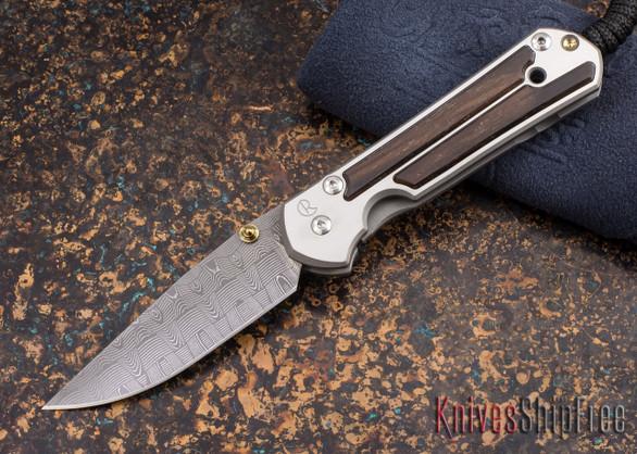 Chris Reeve Knives: Small Sebenza 21 - Macassar Ebony - Basketweave Damascus - 011841