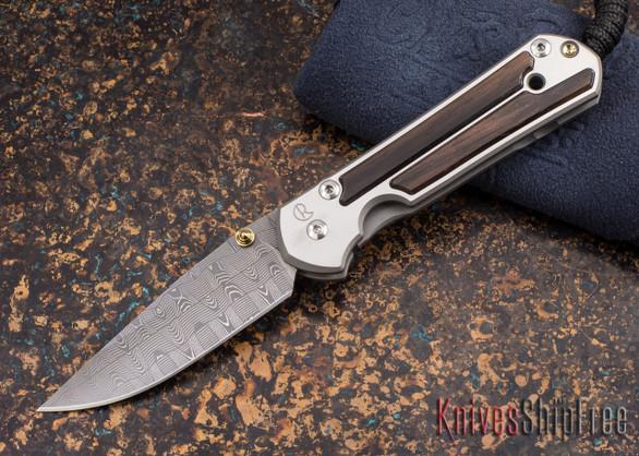 Chris Reeve Knives: Small Sebenza 21 - Macassar Ebony - Basketweave Damascus - 011842
