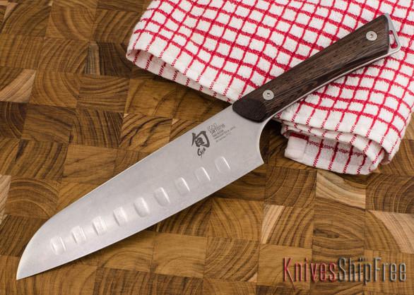 """Shun Knives: Kanso Hollow Ground Santoku 7"""" - SWT0718"""