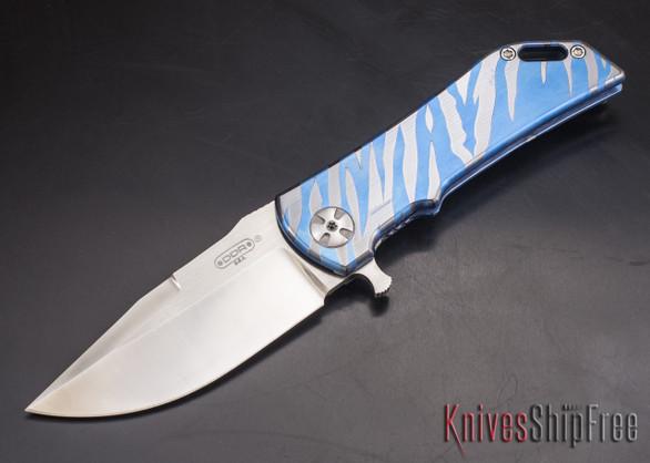 Darrel Ralph - DDR Knives: Dominator 3.5 - CPM-S35VN - Titanium Framlock - Blue Tiger - Clip Point