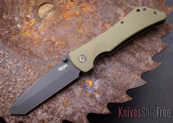 Southern Grind: Bad Monkey - Tanto Black Blade - OD Green G-10