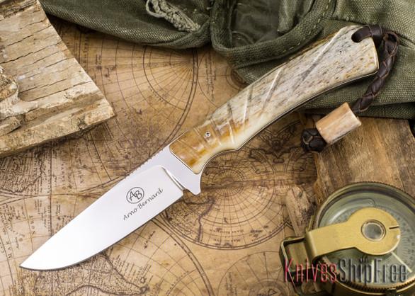Arno Bernard Knives: Badger - Giraffe Bone 01
