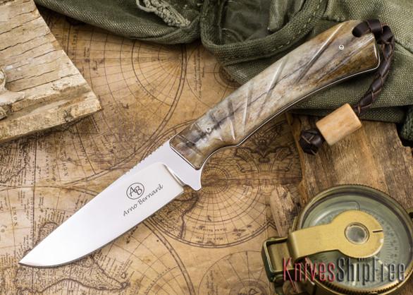 Arno Bernard Knives: Badger - Giraffe Bone 02