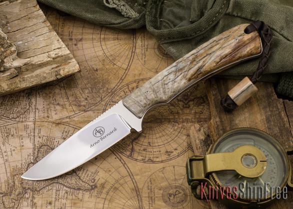 Arno Bernard Knives: Badger - Giraffe Bone 19