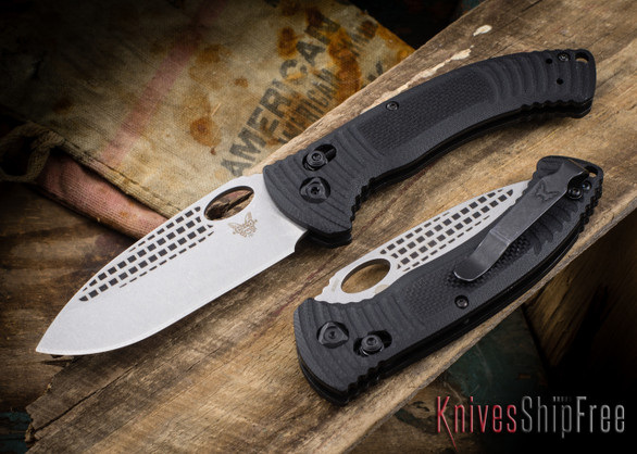 Benchmade Knives: 737 Aileron - CPM-S30V - Laser Textured