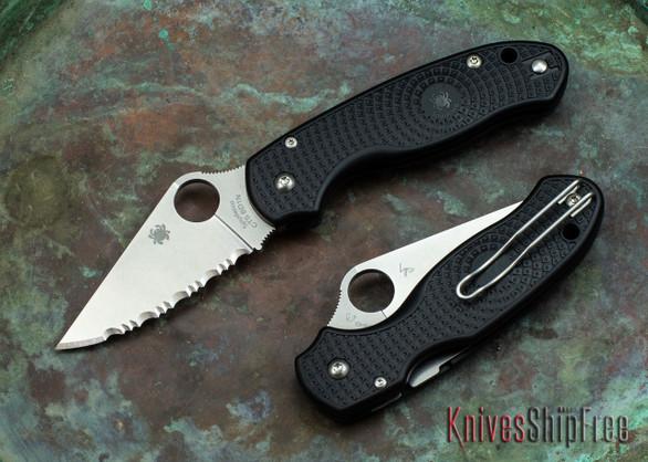 Spyderco: Para 3 Lightweight - Serrated - Black FRN - CTS-BD1N - C223SBK