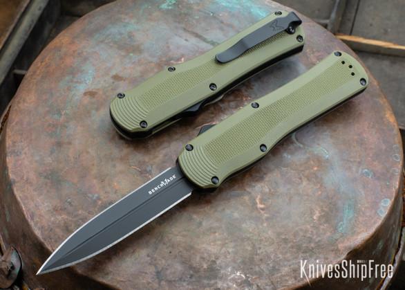 Benchmade Knives: 3400BK-1 Autocrat - OD Green G-10 - CPM-S30V - Black DLC - OTF Auto