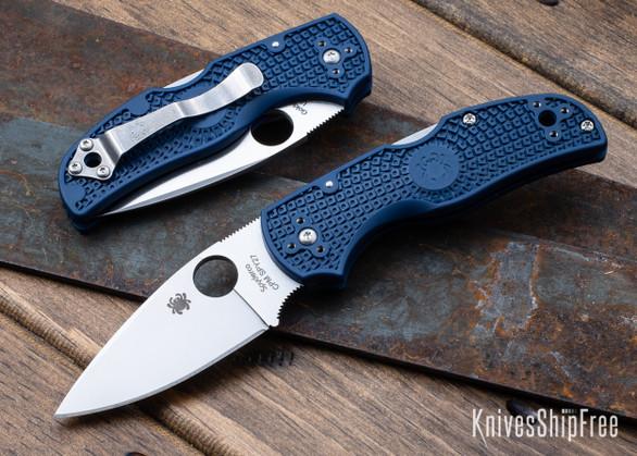 Spyderco: Native 5 Lightweight - Cobalt Blue FRN - Lockback - CPM-SPY27 - C41PCBL5