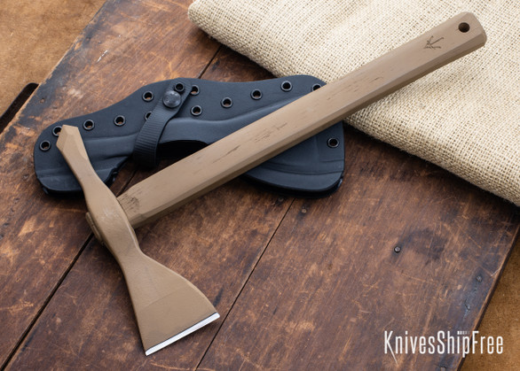American Tomahawk: Model 1 - Coyote Brown Hickory - Drop-Forged 1060 Steel