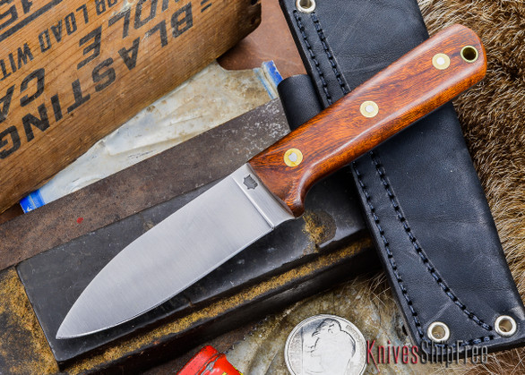 L.T. Wright Knives: Genesis - Desert Ironwood - Flat Ground - A2 Steel - #3