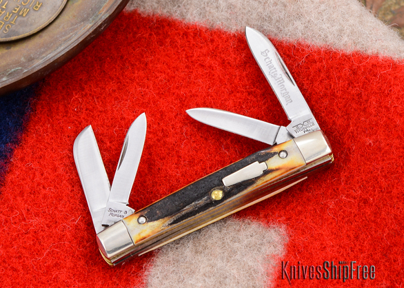 Schatt & Morgan: Keystone Series #03 - Mini-Congress - 4-Blade - Stag - #22