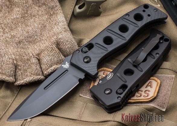 Benchmade Knives: 2750BK Adamas AUTO - Black Blade
