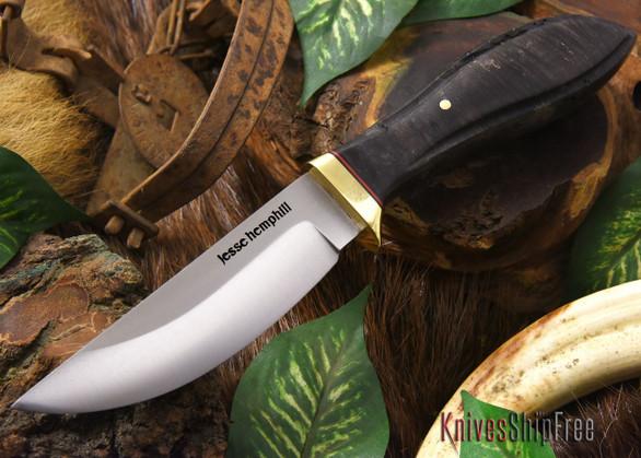 Jesse Hemphill Knives: DeKalb Series - Point Rock - Black Maple Burl - #2