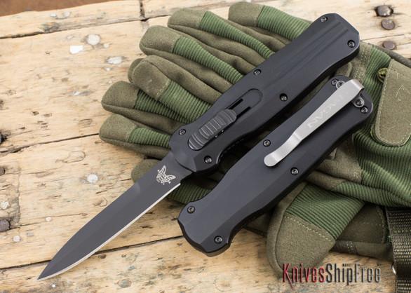 Benchmade Knives: 3321BK Pagan - OTF Auto - Black Blade