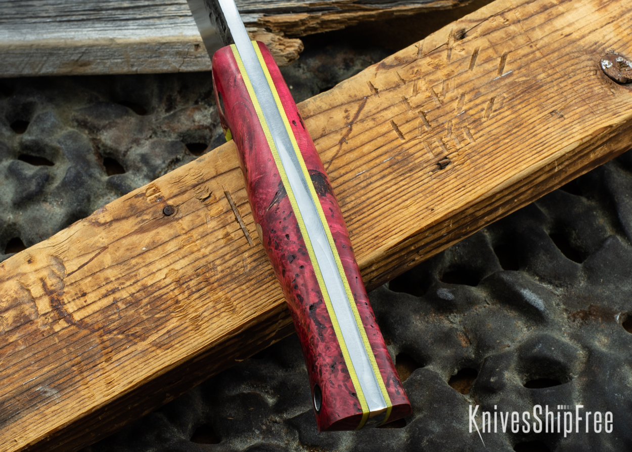 Red & Black Box Elder Burl - Yellow Liners - 072036 (Spine)