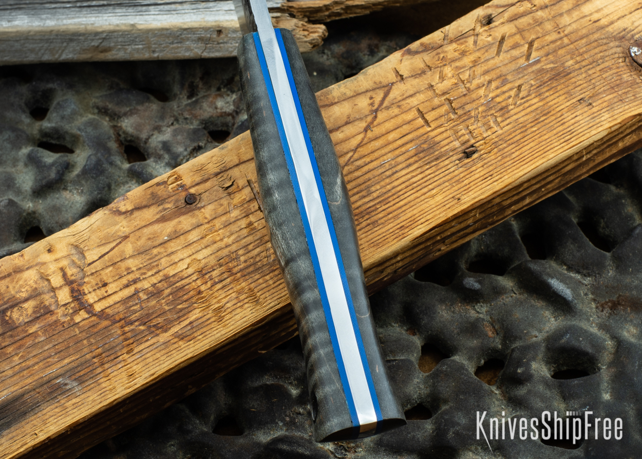 Black Curly Maple - Blue Liners - 072037 (Spine)