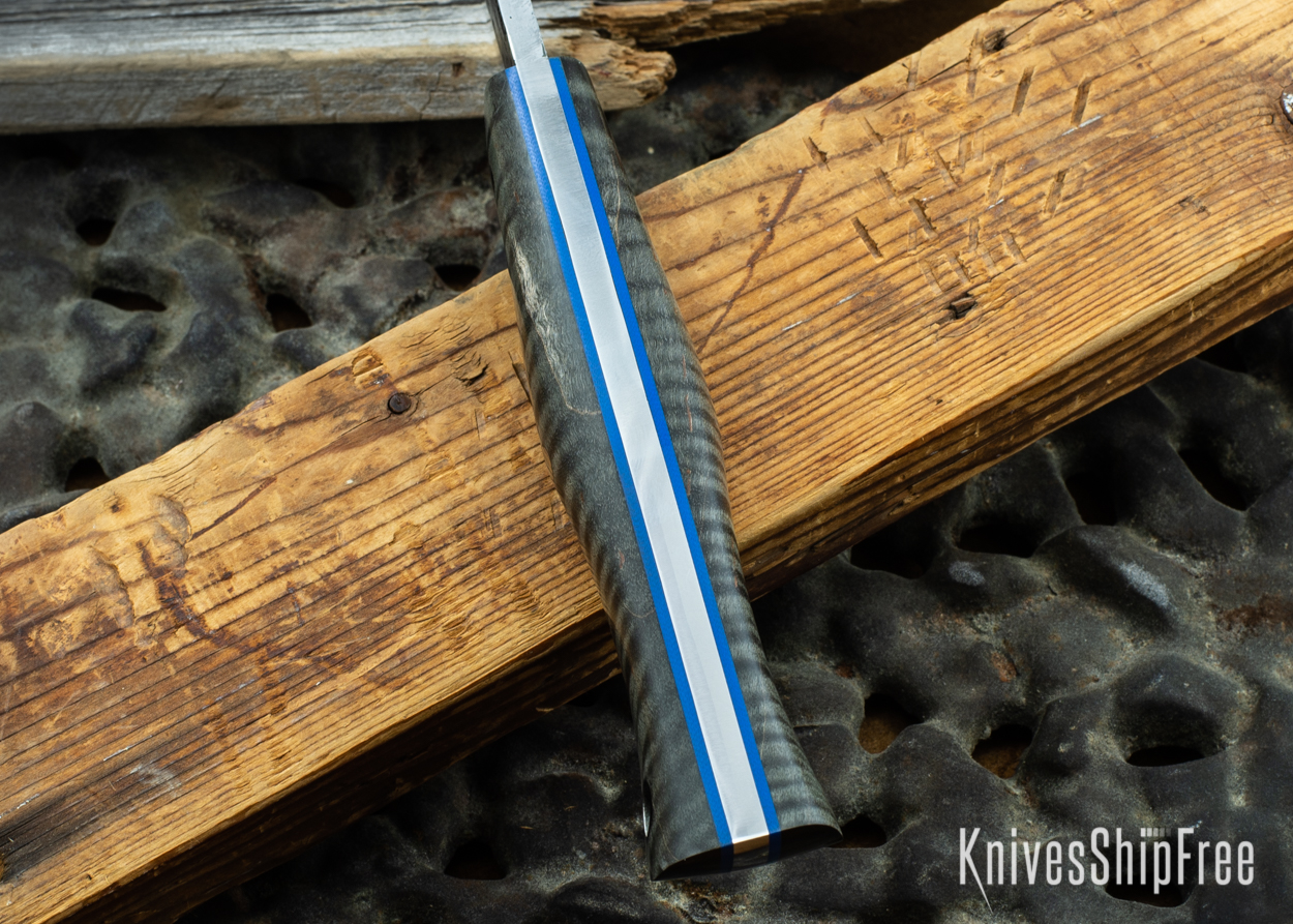 Black Curly Maple - Blue Liners - 072039 (Spine)