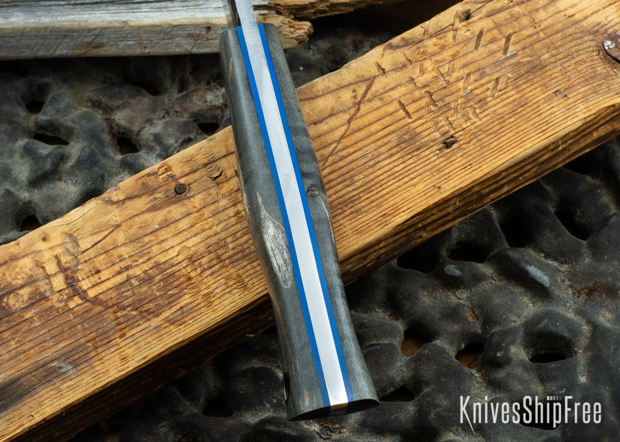 Black Curly Maple - Blue Liners - 072041 (Spine)