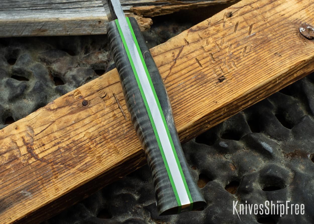 Black Curly Maple - Lime Green Liners - 072042 (Spine)