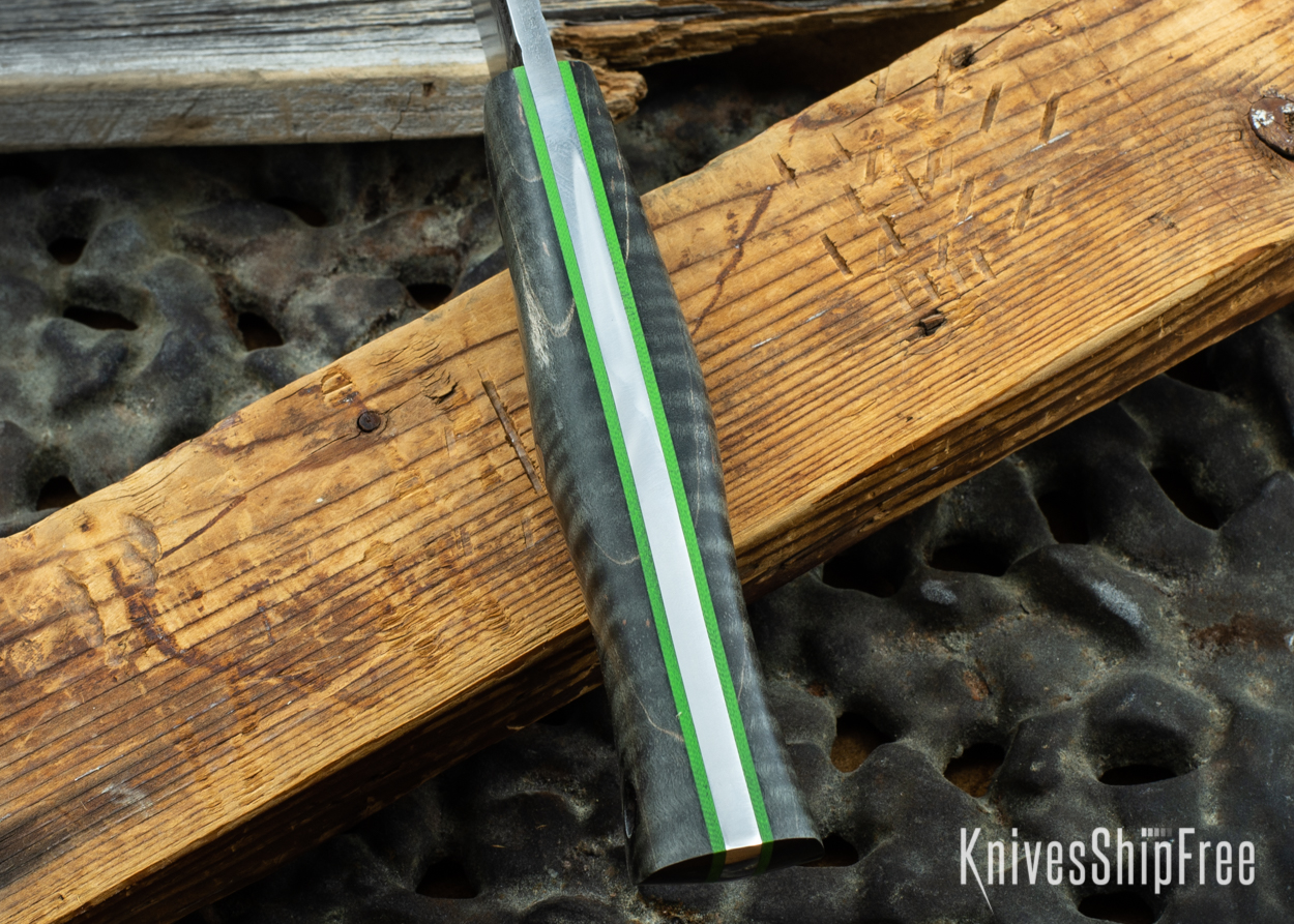 Black Curly Maple - Lime Green Liners - 072043 (Spine)