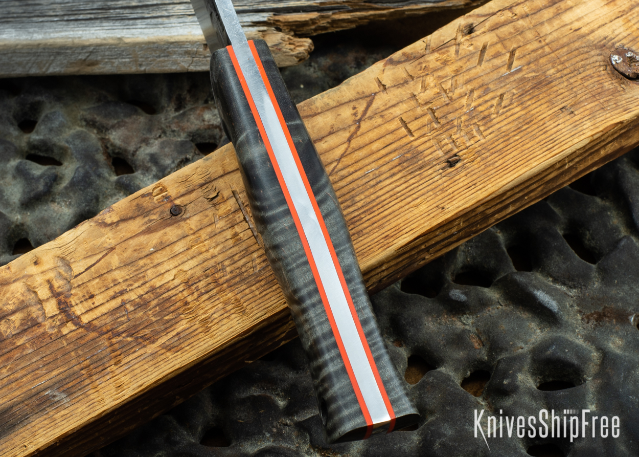Black Curly Maple - Orange Liners - 072045 (Spine)