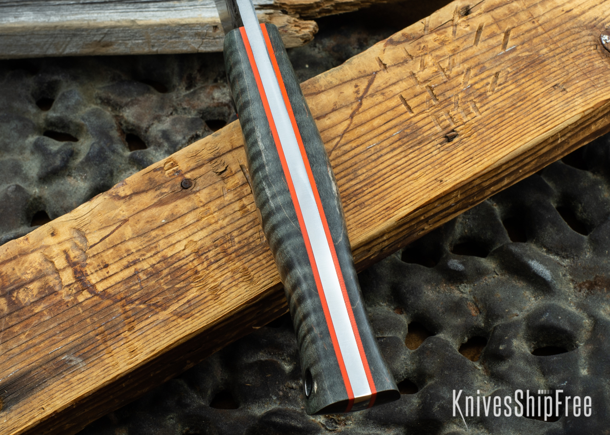 Black Curly Maple - Orange Liners - 072047 (Spine)